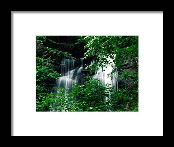 Landscape Framed Print featuring the photograph Chattahoochee Waterfall by Vicky Brago-Mitchell