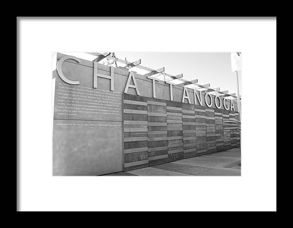 Black And White Framed Print featuring the photograph Chattanooga 2 by Jessica Roth