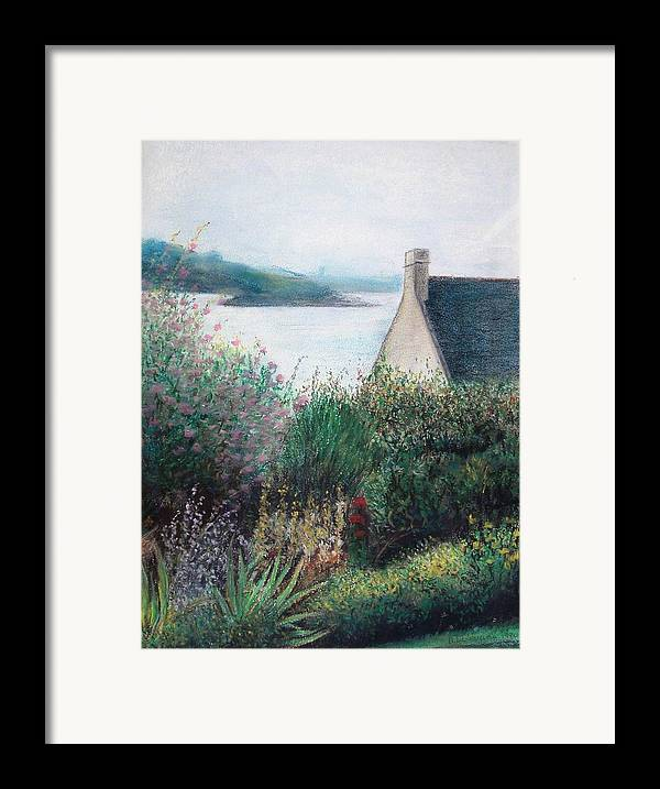 Landscape Framed Print featuring the painting Chausey by Muriel Dolemieux