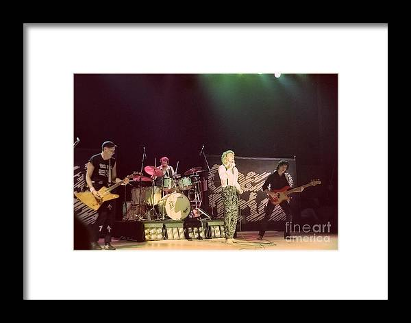 Robin Zander Framed Print featuring the photograph Cheap Trick 1 by Kevin B Bohner