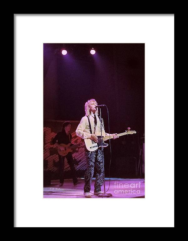 Robin Zander Framed Print featuring the photograph Cheap Trick 4 by Kevin B Bohner