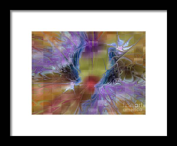 Digital Framed Print featuring the digital art Checker Square Design by Deborah Benoit