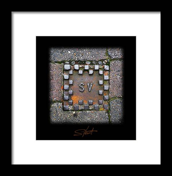 Square Framed Print featuring the photograph Checker Sv by Charles Stuart