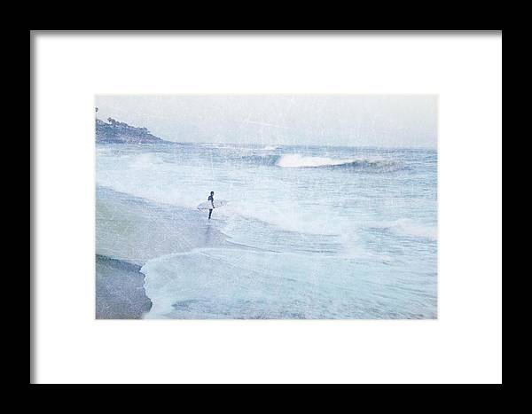 Surfer Framed Print featuring the photograph Checking The Curls by Guy Crittenden