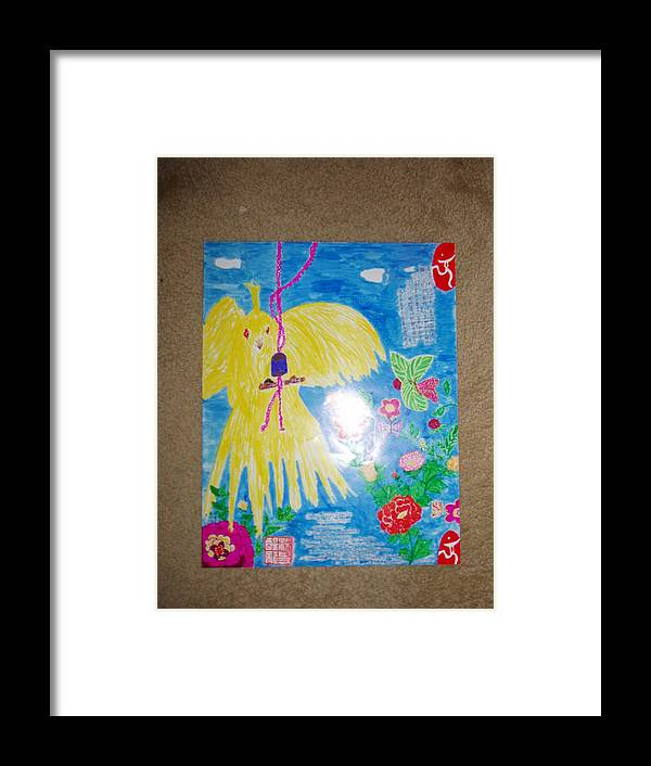 Birds Framed Print featuring the painting Cheers 2008 Beijing Olympics by Golden Dragon