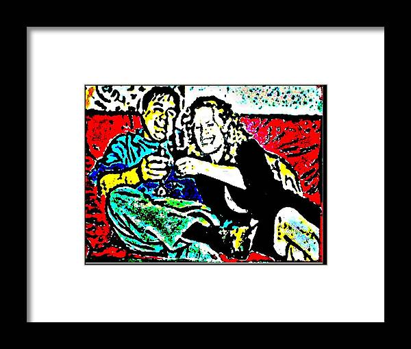 Friends Framed Print featuring the painting Cheers by Christopher Thames