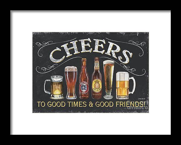 Cheers Framed Print featuring the painting Cheers by Debbie DeWitt