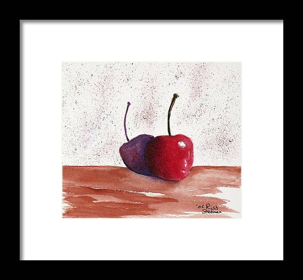 Food And Beverage Framed Print featuring the painting Cheery Cherry by Rich Stedman