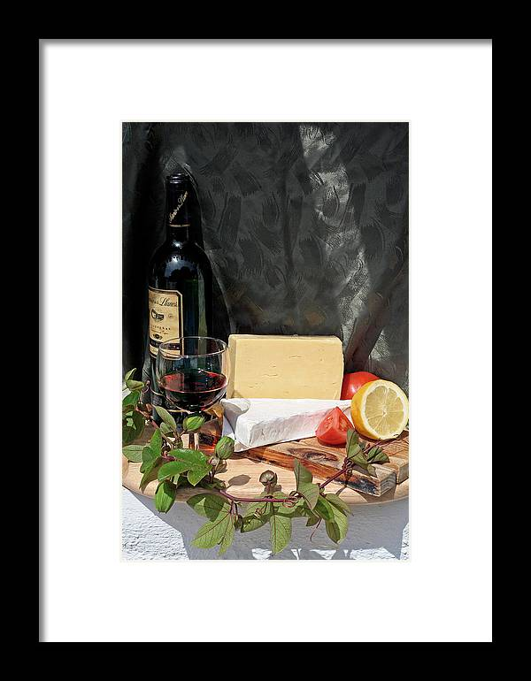 Cheese Framed Print featuring the photograph Cheese And Wine by Gaile Griffin Peers