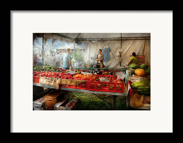 Chef Framed Print featuring the photograph Chef - Vegetable - Jersey Fresh Farmers Market by Mike Savad