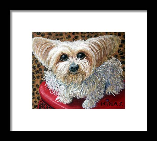 Dog Framed Print featuring the painting My Friend by Minaz Jantz