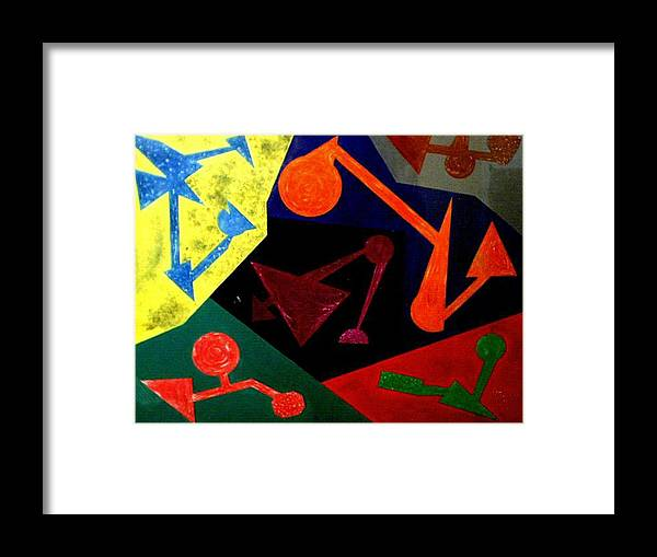 Abstract Framed Print featuring the painting Chemistry by Guillermo Mason