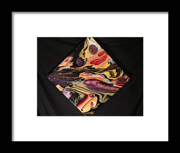 Abstract Framed Print featuring the painting Cherish The Day by Patrick Mock