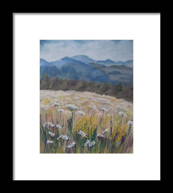 Cherokee Nc Framed Print featuring the painting Cherokee Wildflowers by Cathy Weaver