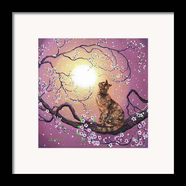 Zen Framed Print featuring the painting Cherry Blossom Waltz by Laura Iverson