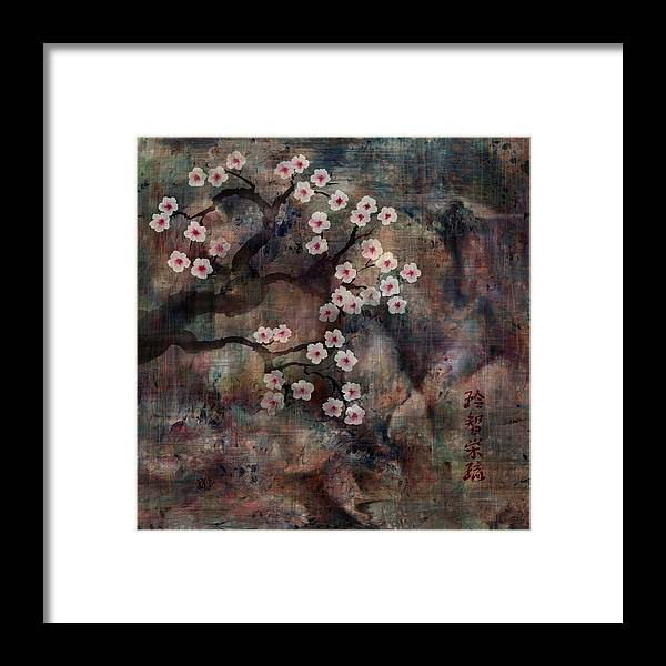Landscape Framed Print featuring the digital art Cherry Blossoms by William Russell Nowicki