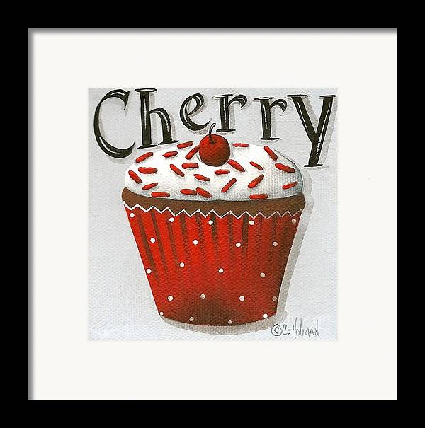 Art Framed Print featuring the painting Cherry Celebration by Catherine Holman