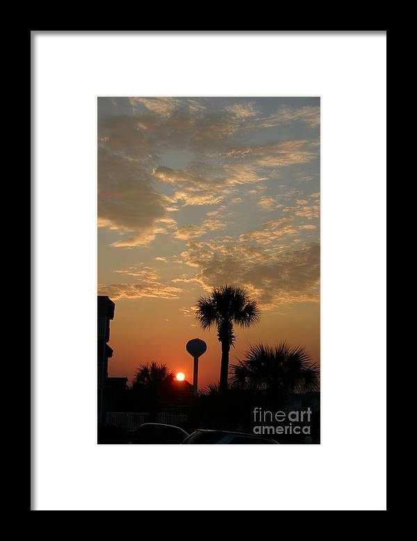 Beach Framed Print featuring the photograph Cherry Grove by Beebe Barksdale-Bruner