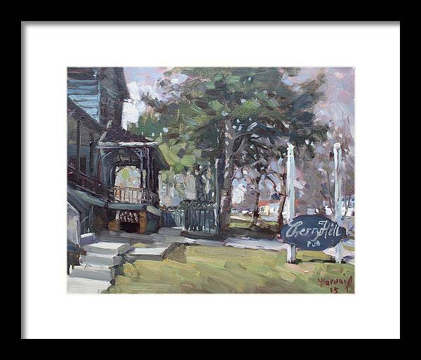 Cherry Hills Pub Framed Print featuring the painting Cherry Hill Pub by Ylli Haruni