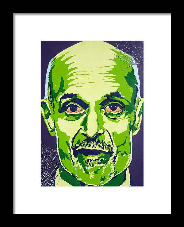 Politics Framed Print featuring the painting Chertoff by Dennis McCann