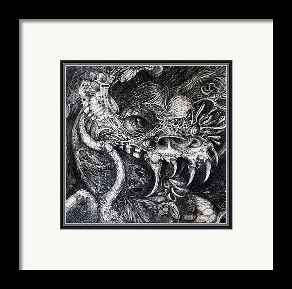 Framed Print featuring the drawing Cherubim Of Beasties by Otto Rapp