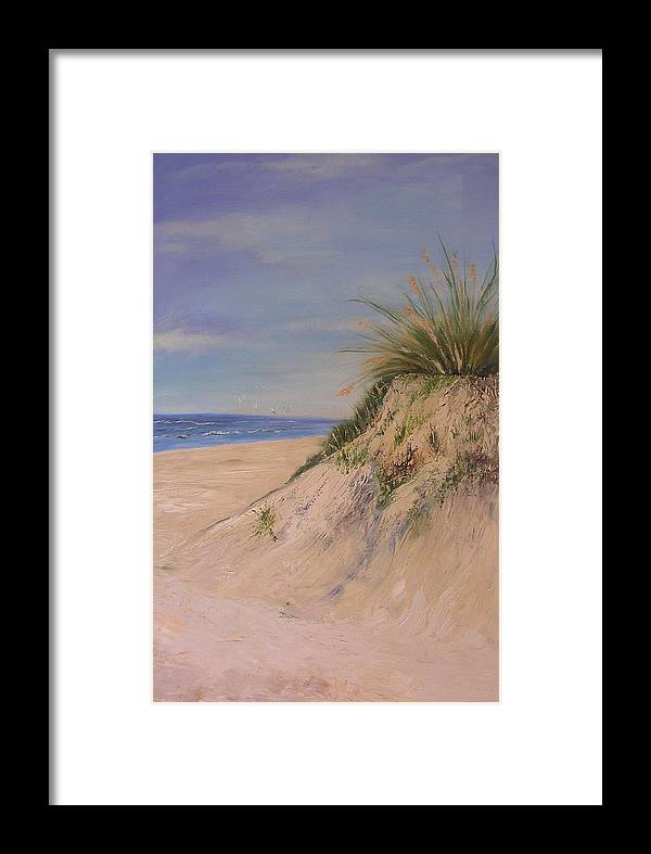 Dune Framed Print featuring the painting Chesapeake Bay Dune by Barbara Harper
