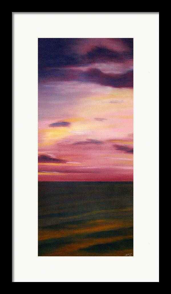 Sunrise Framed Print featuring the painting Chesapeake Skyscape by Gary Jameson