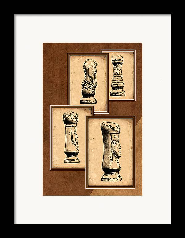 King Framed Print featuring the photograph Chess Pieces by Tom Mc Nemar