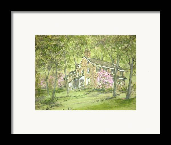 Landscape Framed Print featuring the painting Chester Springs by David Bruce Michener