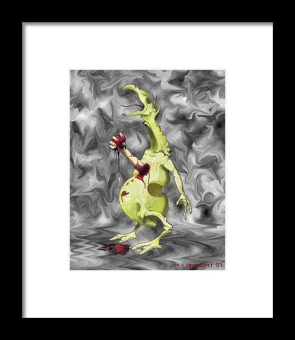 Violent Framed Print featuring the digital art Chesterbuster by J P Lambert