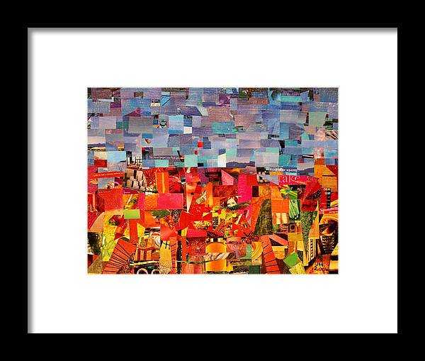 Abstract Art For Sale Framed Print featuring the painting Chestnut Hill by Jerry Hanks