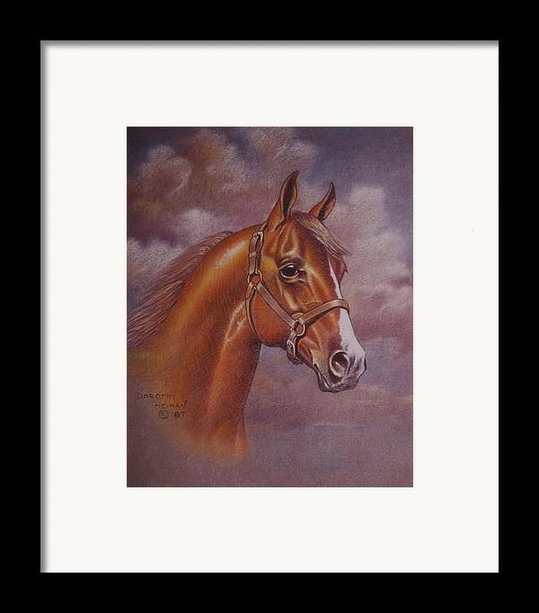 Framed Print featuring the painting Chestnut Quarter Horse by Dorothy Coatsworth