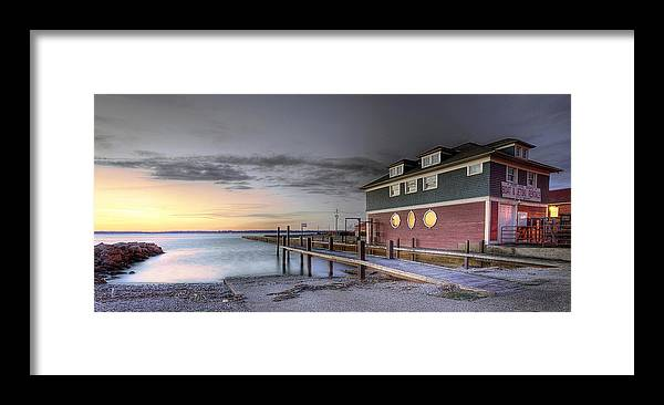 Erie Pa Framed Print featuring the photograph Chestnut Street Boathouse by Brian Fisher