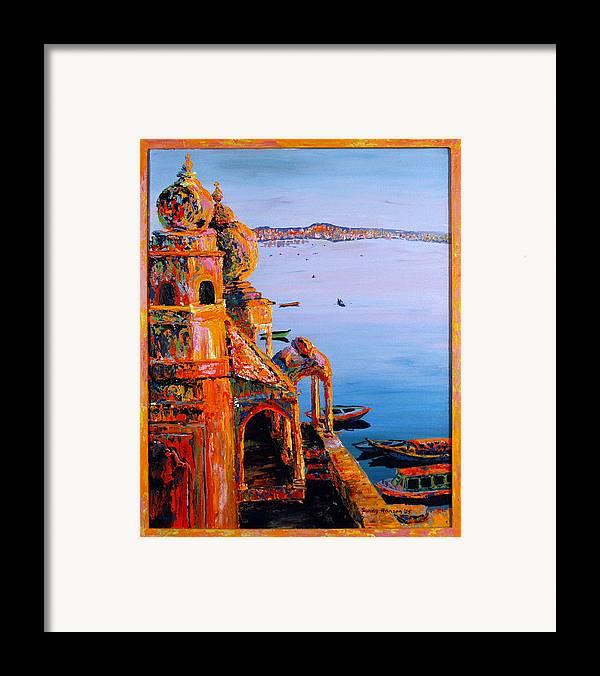 Chet Singh Framed Print featuring the painting Chet Singh by Art Nomad Sandra Hansen