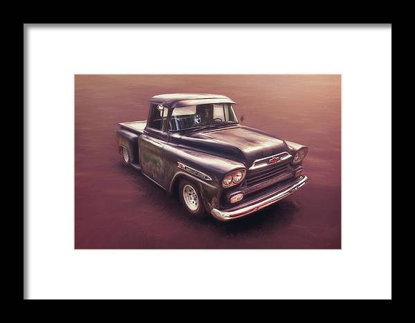 Classic Car Framed Print featuring the photograph Chevrolet Apache Pickup by Scott Norris
