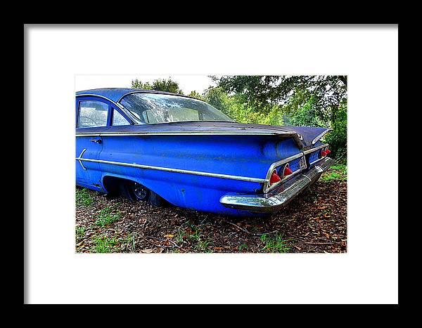 Chevrolet Bel Air Back Side 2 Framed Print featuring the photograph Chevrolet Bel Air Back Side 2 by Lisa Wooten