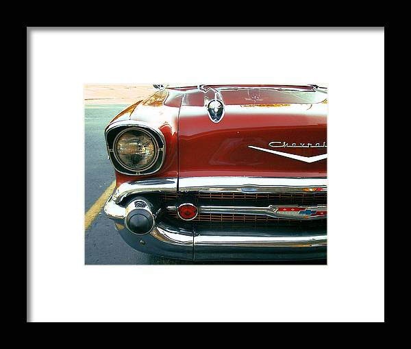 Car Framed Print featuring the photograph Chevy Bel Air by Jame Hayes
