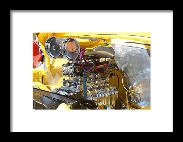 Car Framed Print featuring the photograph Chevy Motor by Lynn Michelle