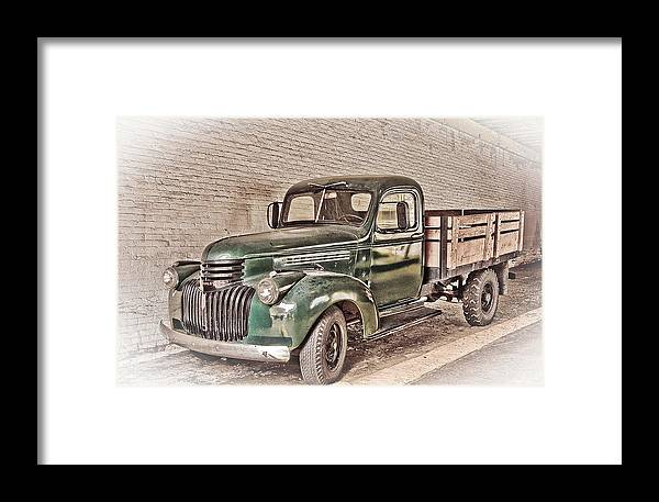 Truck Framed Print featuring the digital art Chevy Truck by Ches Black