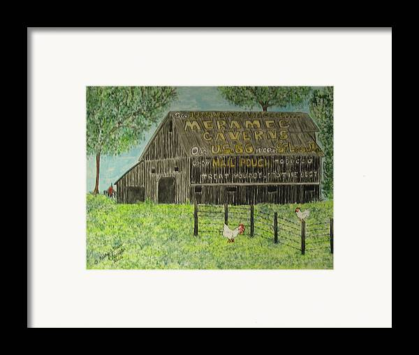 Chew Mail Pouch Framed Print featuring the painting Chew Mail Pouch Barn by Kathy Marrs Chandler