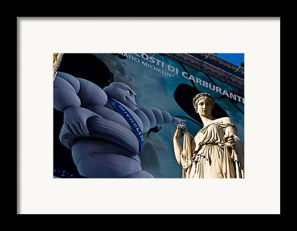 Statue Framed Print featuring the photograph Chewy Marble by Luigi Montebello