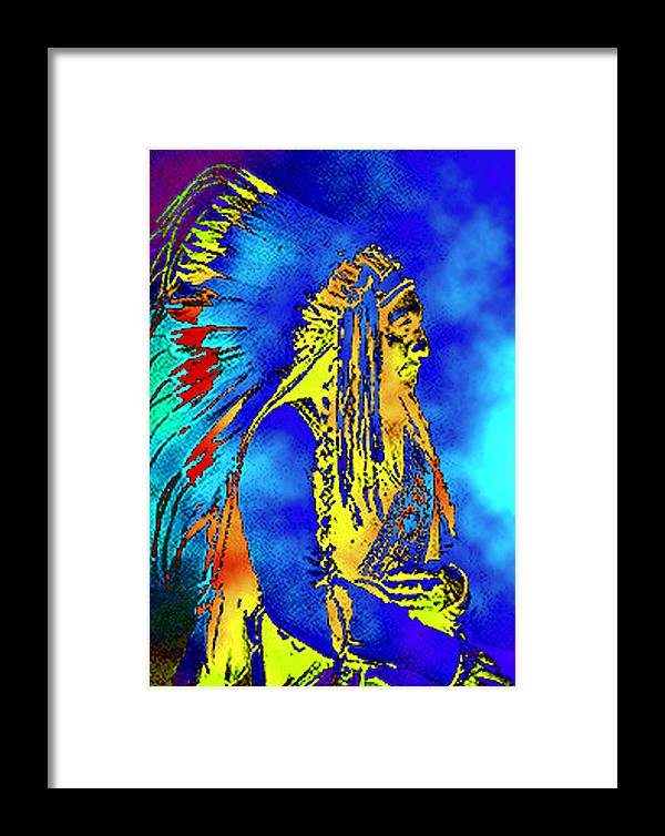 Nativeamerican Framed Print featuring the photograph Cheyenne Chief by Ben Freeman