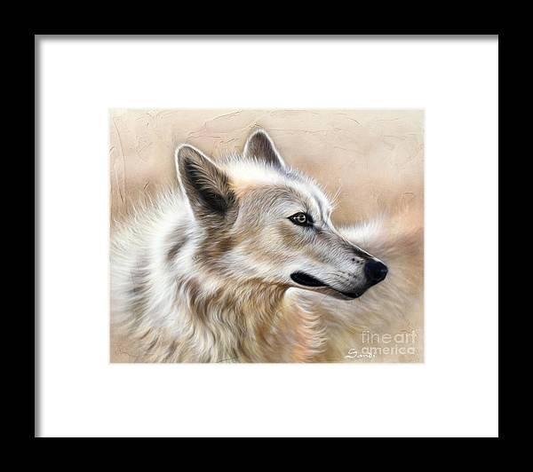 Acrylic Framed Print featuring the painting Cheyenne by Sandi Baker