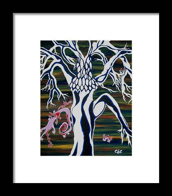 Abstract Framed Print featuring the painting chi by Carolyn Cable
