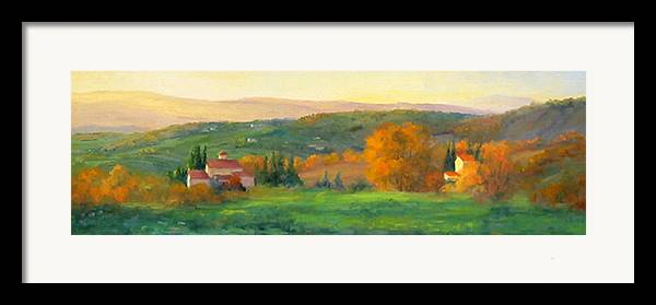 Chianti Framed Print featuring the painting Chianti Glow by Bunny Oliver
