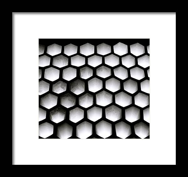 Abstract Framed Print featuring the photograph Chiaroscuro Geometry by Shaun Higson