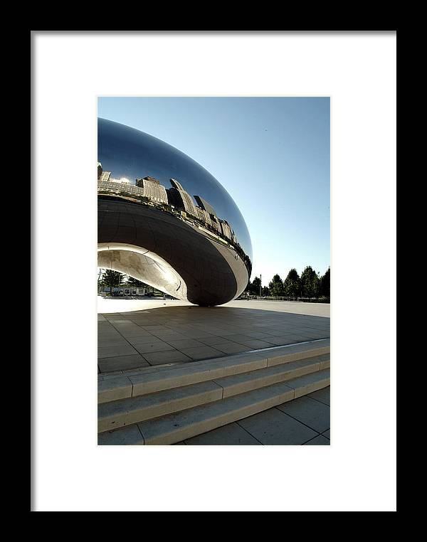 Chicago Framed Print featuring the photograph Chicago - Cloud Gate Reflection by Dmitriy Margolin
