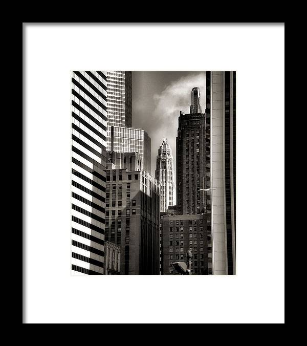Chicago Architecture Framed Print featuring the photograph Chicago Architecture - 13 by Ely Arsha