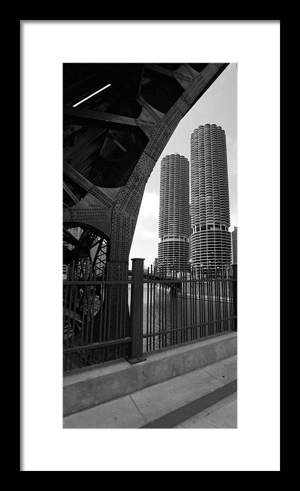 Chicago Framed Print featuring the photograph Chicago Bridge And Buildings by Dmitriy Margolin