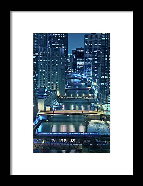 Chicago Framed Print featuring the photograph Chicago Bridges by Steve Gadomski